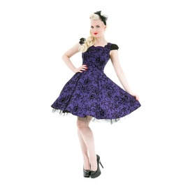 Rockabilly Pin Up Vintage Retro 50's 60's 70's Purple Dress