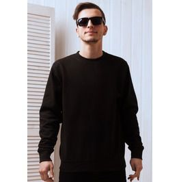 Heavyweight cotton sweatshirt crew neck unprinted pullover mens black top hoodies and sweatshirts