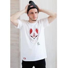 Japanese Shirt – Kitsune Fox Mask T Shirt – Japan Kawaii Kanji Anime Manga