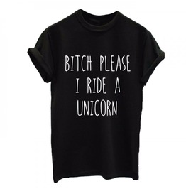 Black Ride Unicorn Tshirt