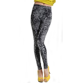 Black And Gray Leopard Print Leggings Design 99