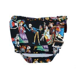Catrinas Skulls Art Messenger Bag