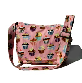 Pink Cupcakes Messenger Bag