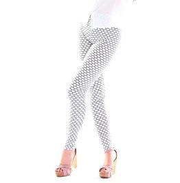 Black And White Honeycomb Leggings Design 226