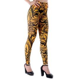 Black And Yellow Tribal Leggings Design 187