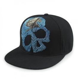 Black Cap Wtih Skull Deco