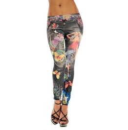 Black Butterfly Tattoo Leggings Design 381