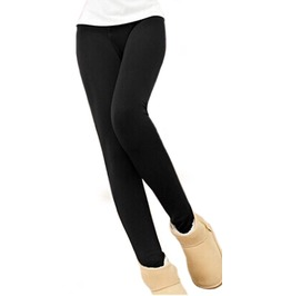 Black Cashmere Warm Winter Stirrup Leggings Design 389