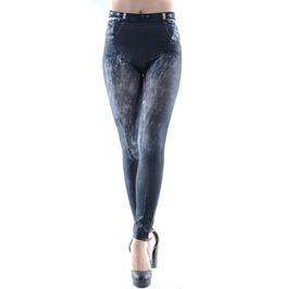 Black Faded Denim Jeans Leggings Design 30