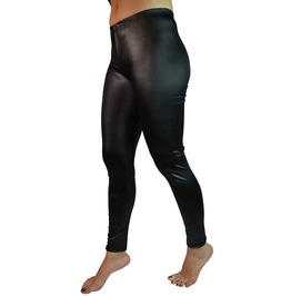 Black Faux Leather Leggings Design 157