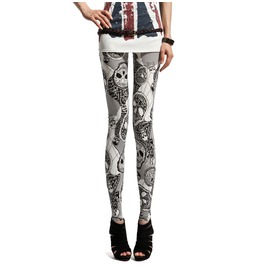 Gothic Skull Printed Women Leggings