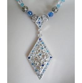 Blue Necklace, Victorian Edwardian Art Nouveau Art Deco Renaissance