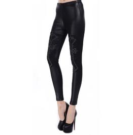 Black Rivet Crosses Leggings Design 65