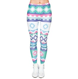 Blue And Green Aztec Leggings Design 585
