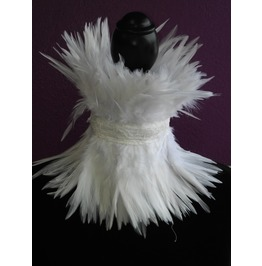 White Feather Choker