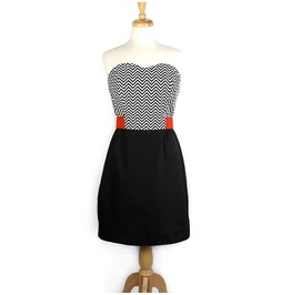 Black White Red Mod Retro 60s Mini Dress $9 To Ship Worldwide