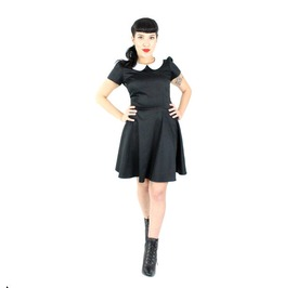 Wednesday Addams Black White Mod Retro 60s Mini Dress $9 To Ship Worldwide
