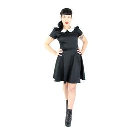 Wednesday Addams Black White Mod Retro 60s Mini Dress $9 To Ship Worldwide