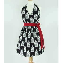 The Raven Edgar Allan Poe Black And White Retro Dress $9 To Ship Worldwide