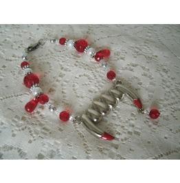Vampire Fangs Bracelet, Gothic Goth Fantasy Halloween Cosplay Rockabilly