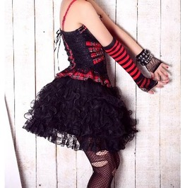 Lolita Gothic Burlesque Opera Free Size Tutu Skirt By Punk Rave