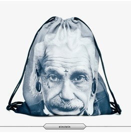 Punk Einstein Printed Drawstring Bag Unisex
