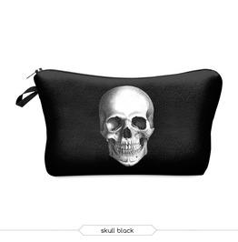 Skull Printed Makeup Bag