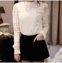 Women's Slim Embroidery Long Sleeve