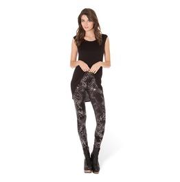 Spandex Pecil Spider Web Printed Pants Women's