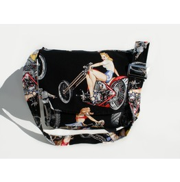 Motorcycles And Pinups Messenger Bag