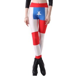 Chile Flag Leggings