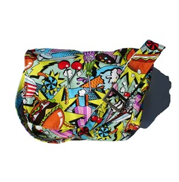 50's Diner Food Pop Art Messenger Bag