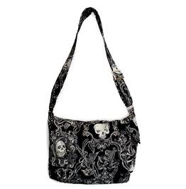 Victorian Gothic Skull Messenger Bag