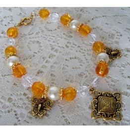 Butterfly Charm Bracelet, Boho Bohemian Hippie Gypsy Rockabilly Pin Up