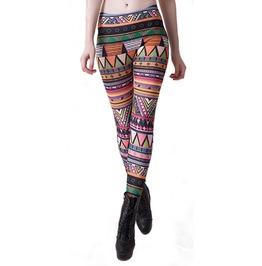 Colorful Aztec Leggings Design 564