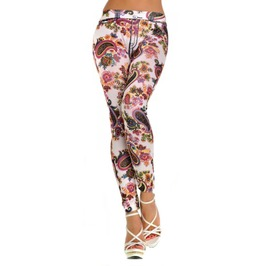 Colorful Floral Leggings Design 388