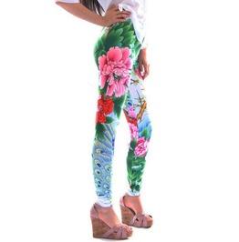 Colorful Flowers Leggings Design 305