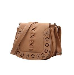 Women's Leather Handbags Retro Hollow Out Crossbody Shoulder Bag