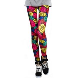 Colorful Swirlies Leggings Design 447