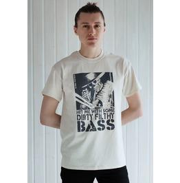 Dj Shirt Hit Me: Dirty Bass Drum N Bass Skeleton Skull Hip Hop Urban