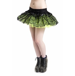 Jawbreaker Clothing Mini Layered Ghoul Tutu Green And Red