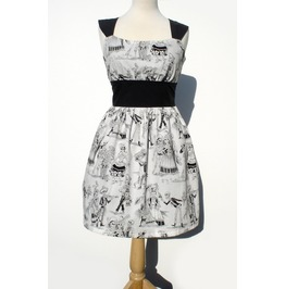 Day Of The Dead Black And White Retro Mini Dress $9 To Ship Worldwide