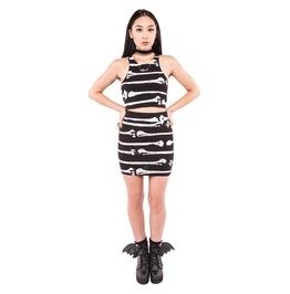 Iron Fist Clothing Bone Me Mini Skirt