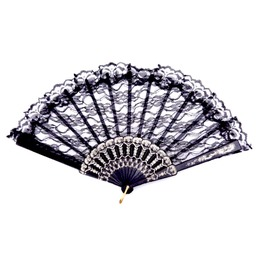 Awesome Black Lacey Victorian Gothic Design Fan
