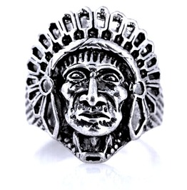 Unique Native American Indian Design Stainless Steel Ring Us Size 11