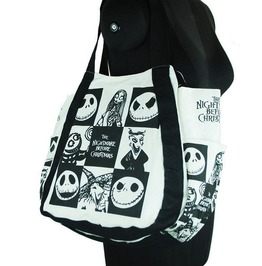 Nightmare Before Christmas Shoulder Hand Bag Black And White Jack Sally