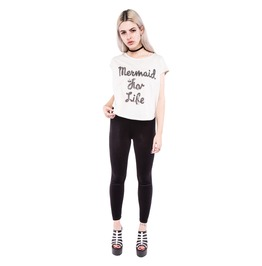 Iron Fist Clothing Mermaid For Life Oversized Crop Tee
