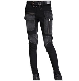 Black Punk Womens Bondage Pant With Pockets