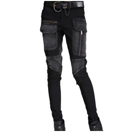 Black Punk Womens Bondage Pant With Pockets