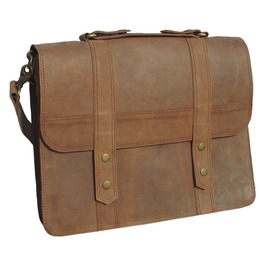 One Leaf Leather Messenger Bag X Pro Man Bag Brown Leather